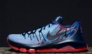 sports shoes 31c83 55118 Image is loading NIKE-KD-8-VII-USA-INDEPENDENCE-DAY-JULY-