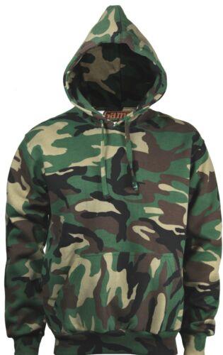 Mens Camouflage Camo Hooded Fleece Sweatshirt Hoodie