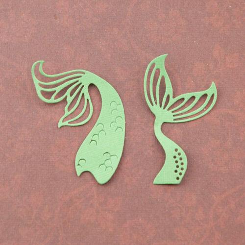Fish Tail Metal Cutting Dies Cuts Stencils Embossing Scrapbooking Album Card DIY