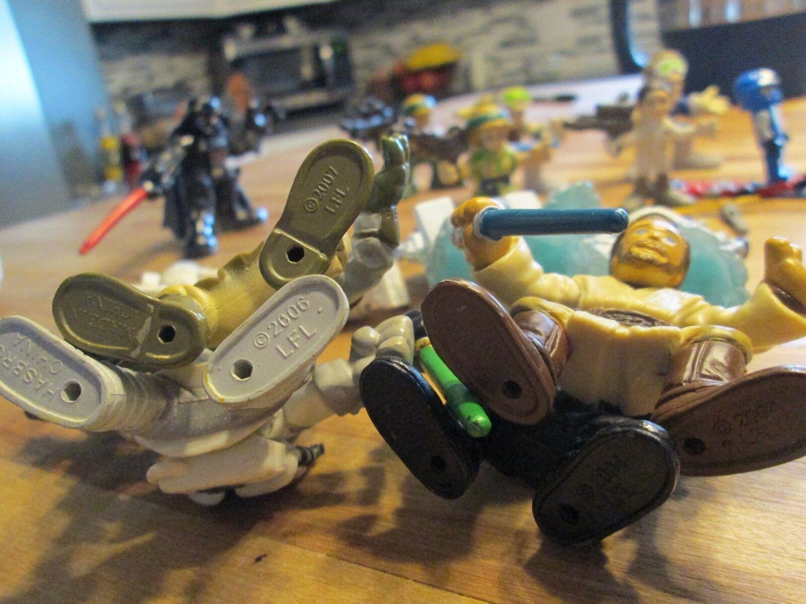 VINTAGE STAR WARS FIGURINES FIGURINES FIGURINES LOT OF 17 + LEGO WATCH FIGURE 1997-2007 HANS LUKE 6f9558