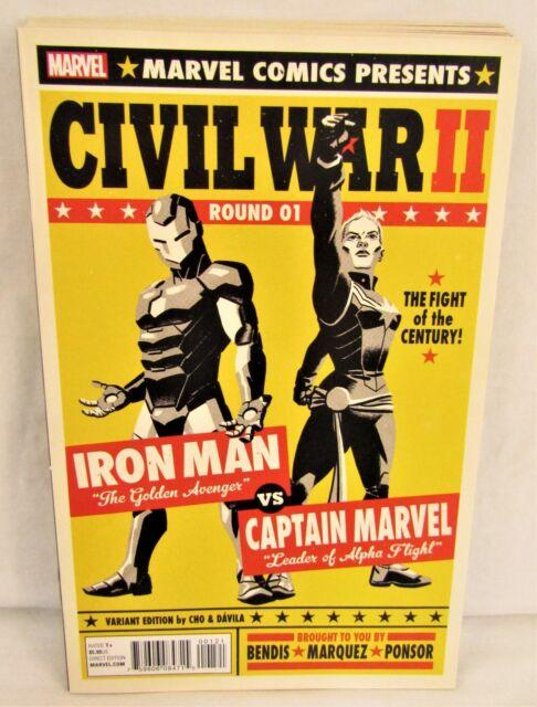 Civil War II #1 2 3 4 5 6 7 8 Michael Cho Variant Lot Complete Set Marvel 2016