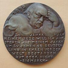 1918 KARL GOETZ 58mm Bronze Medal K-216, TWENTY YEARS OF BISMARCK'S DEATH