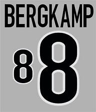 World Cup 1998 Bergkamp 8 Home Holland Football Name set  for National shirt