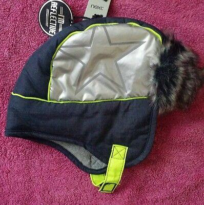 3-6 6-9 Mesi Boy Cappello Invernale Nuovo Con Etichetta Riflettente Accanto-mostra Il Titolo Originale