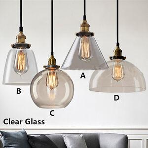 Details About Gl Pendant Light Bedroom Bar Lighting Fixtures Kitchen Modern Ceiling Lamp