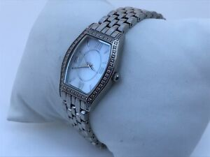DMQ-Ladies-Watch-Crystal-Accents-Silver-Tone-Water-Resistant-3ATM-Analog-Wrist