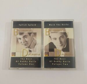 Best of Bobby Darin Cassette Lot - Splish Splash Vol 1 - Mack the Knife Vol 2
