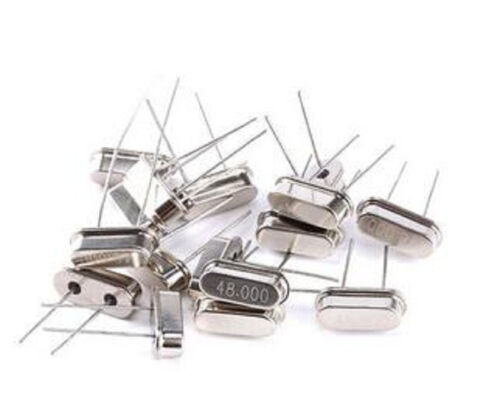 10pcs 48M 48MHZ Mini Crystal Oscillator Passive Quartz Resonator HC-49S