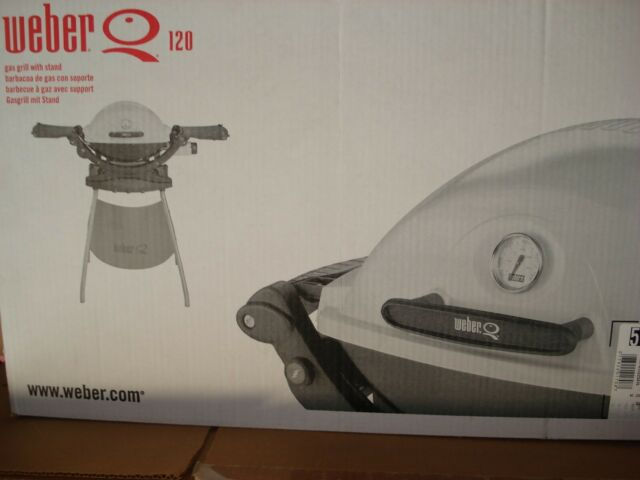 Weber Q Portable Gas Grill With Stand And Carry Bag For Sale Online Ebay
