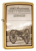 Zippo gettysburg 150th Anniversary Lighter, Brushed Brass, 28506