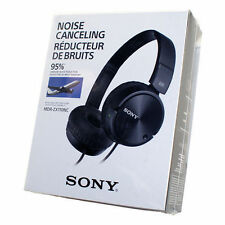 Sony MDR-ZX110NC MDRZX110NC Noise Cancelling Swivel Stereo Headphone Black - NEW