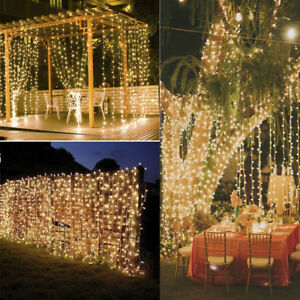 300 led christmas xmas string fairy lamp wedding party curtain la foto se est cargando 300 led christmas xmas string fairy lamp wedding aloadofball