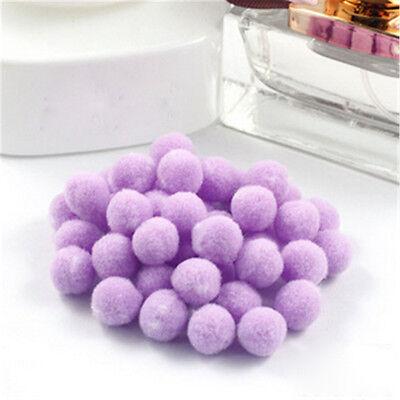 100pcs Fluffy Craft PomPoms Ball 12 color polyester Pom Poms 10mm Diamet DIY CN