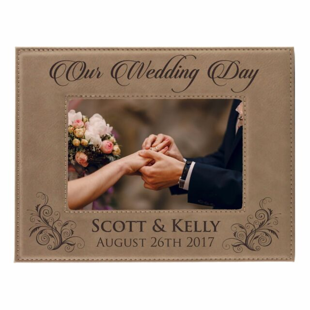 Personalized Wedding Gift Picture Frame Custom Engraved Newlywed
