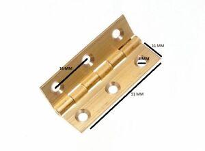 Bisagra-Libro-Puerta-Caja-Extruido-Laton-50mm-5-1cm-50-Pares
