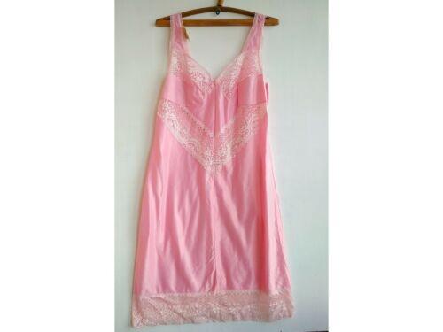 VTG Underdress size L Lace Lingerie Underwear pink