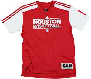 Adidas NBA Men's Houston Rockets Yao Ming #11 On Court Shooting Shirt, Red