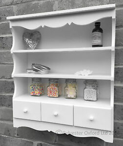 Image Is Loading Pretty Shabby Chic Wall Display Unit Shelving