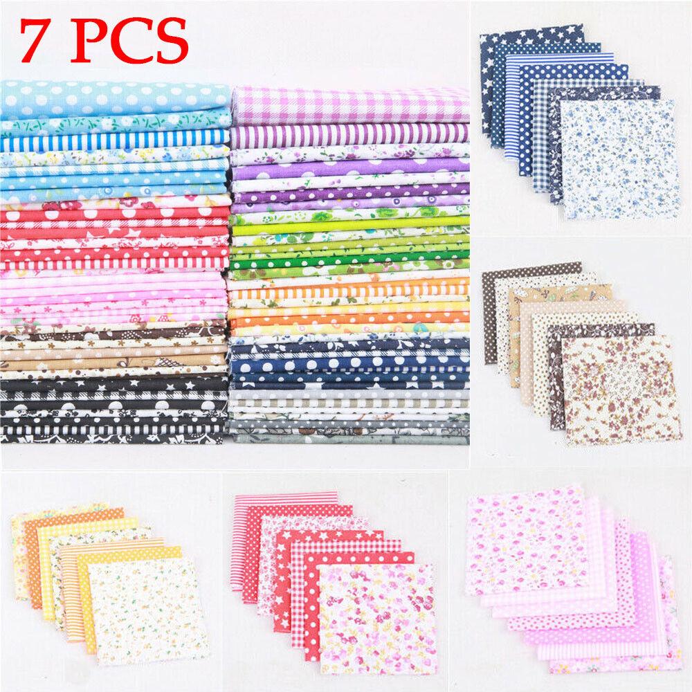 7X 50*50cm Fat Quarter Fabric Bundle 100/% Cotton Quilting Patchwork Mixed Craft