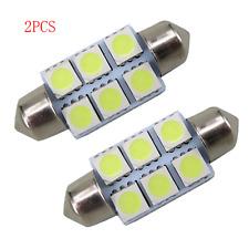 Lot 2pcs White 36mm Festoon 5050 SMD 6 LED C5W Car Led Auto Light Lamp Bulb 12V