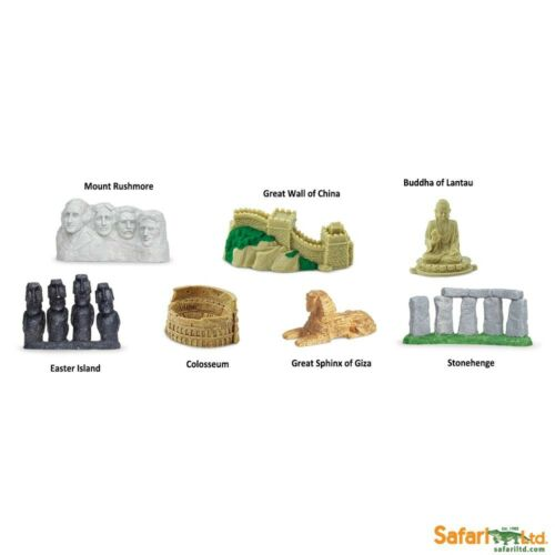 Safari Ltd toys wedding favours? Toob of 7 small replica WORLD LANDMARKS