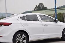6pcs Chrome Central Window Pillar Posts Cover Trim For Hyundai Elantra 2017