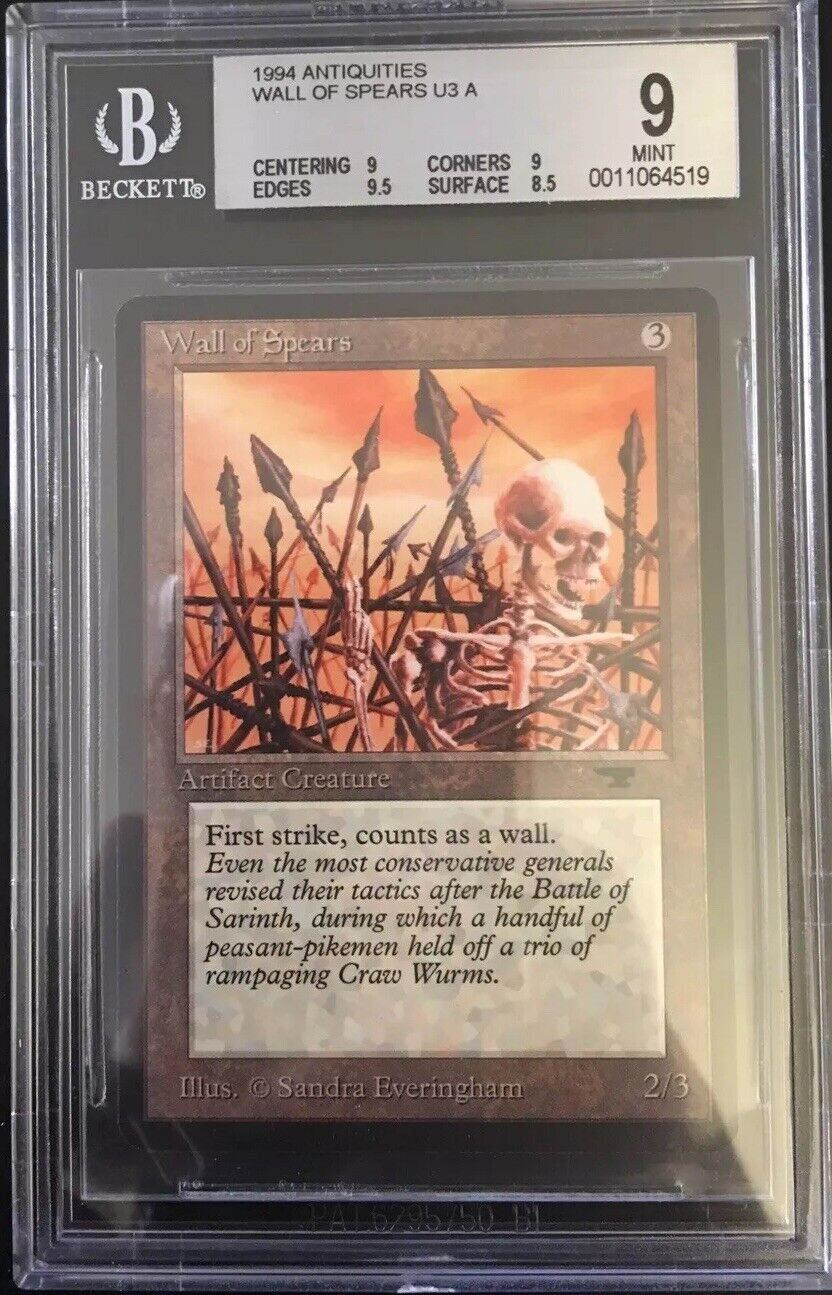 Wall Of Spears - BGS 9 - Antiquities- MTG - Vintage - Legacy - MINT - QUAD++
