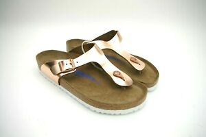 the latest 78097 35917 Details about Birkenstock 265 Womens Sandal Pink Gizeh T-strap Thongs EU41  US10.5-11 Germany