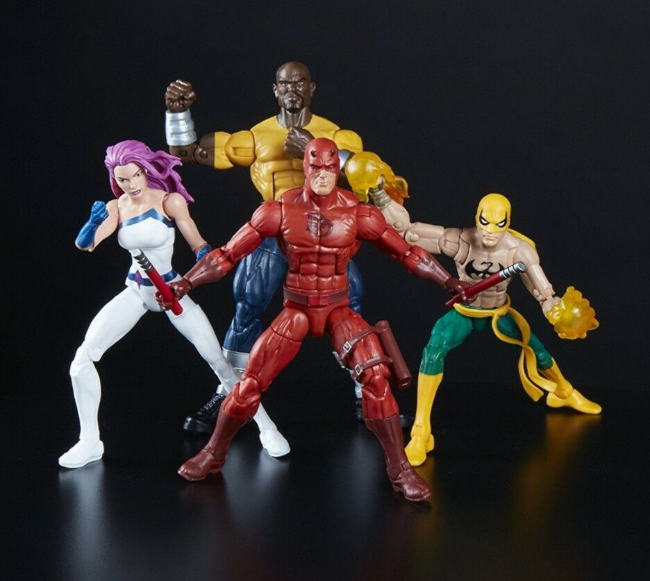 förundras Legends DEFENDERS Darödevil Luke Cage Iron Fist Jessica Jones Amazonas Set