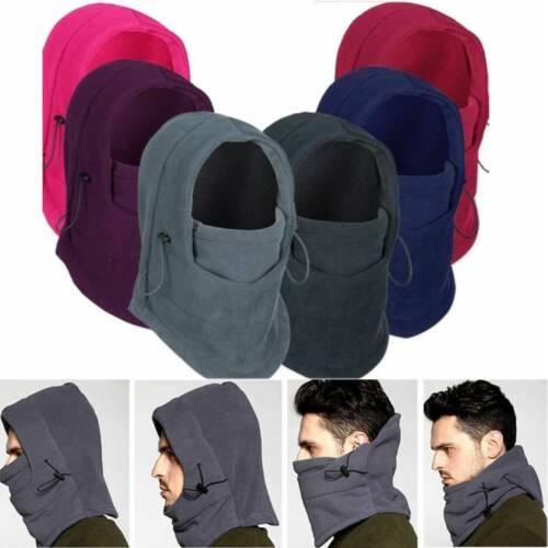 Winter Thermal Fleece Balaclava  Neck Warmer Hood Hat Men Ski Motorcycle Cap