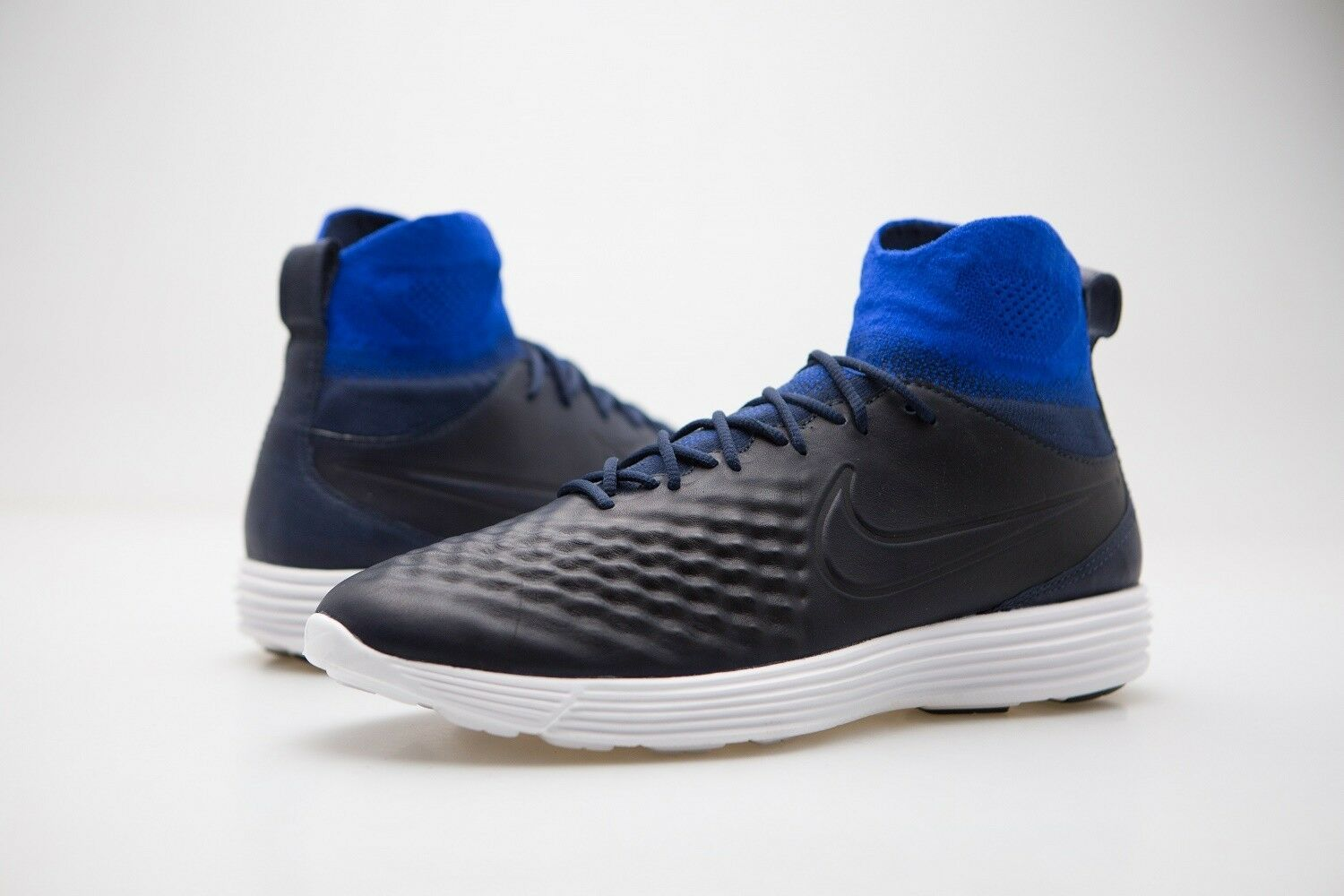 852614-400 Nike Men Lunar Magista Ii Flyknit College Navy Racer Blue