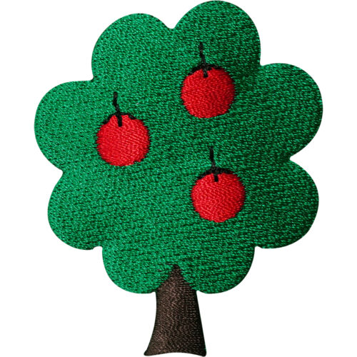 Sew On Patch Clothing Bag Jacket Hat T Shirt Badge Apple Tree Embroidered Iron
