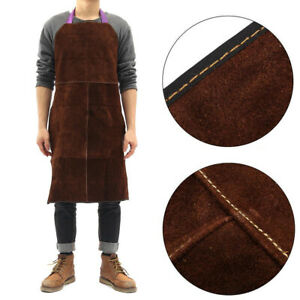 60x90cm Cow Leather Welding Apron Heat Resistant Blacksmith Mechanic Smock Tool