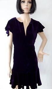 Dress-RALPH-LAUREN-Dark-Purple-H-Quality-VELVET-Silk-NWT-VERY-Limited