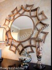 "Contemporary 40"" GEOMETRIC SUNBURST Wall Mirror Round Circular Modern Large"