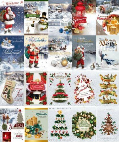100 Weihnachts Postkarten Weihnachtskarten Grußkarten Neujahr Retro  22-1010
