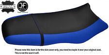 BLACK & ROYAL BLUE CUSTOM FITS SEA DOO GSX GS RFI 96-04 VINYL SEAT COVER + STRAP