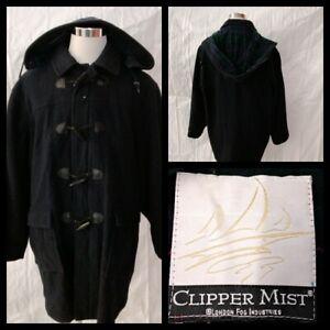 Clipper Mist Jacket Men's XL Navy Blue w/Plaid Lining Great Shape Inv#W1305