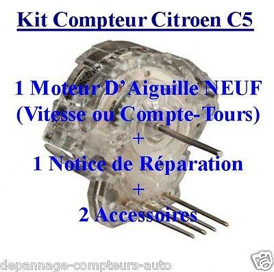 CITROEN C5! 2 MICRO-MOTEURS COMPLET POUR RÉPARATION COMPTEUR PEUGEOT 206 806