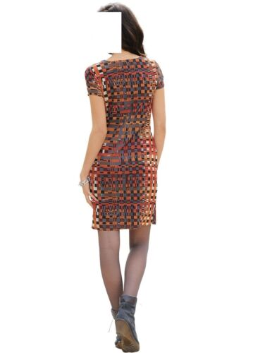 42  0417614842 GR MARKEN KARO KLEID MULTICOLOR IN WICKELOPTIK GR 40