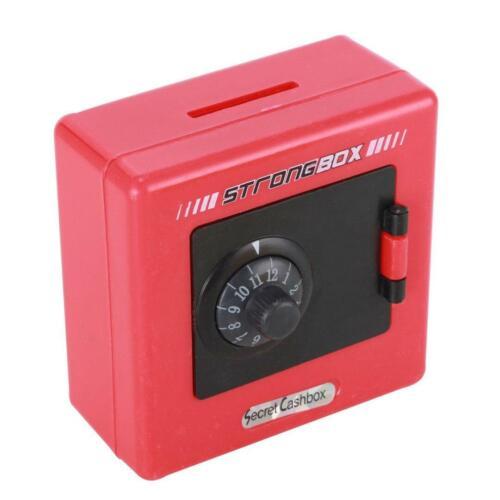 Metal Kid Coin Safe Piggy Money Bank Cash Box Code Combination Lock Colors Save