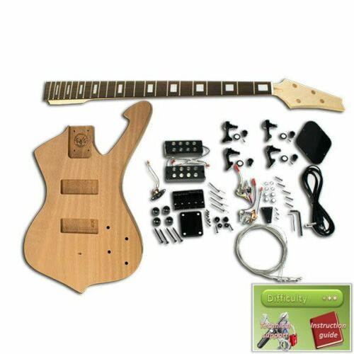Mahogany Ibanez Iceman Bass Guitar Kit