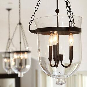 Rustic Fixtures Chandelier Loft Pendant Light Drop Glass Shade Ceiling Lamp