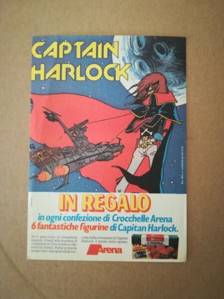 """N°35/se Pubblicita' Originale Advetising """"capitan Harloick"""" Anni 70/80"""