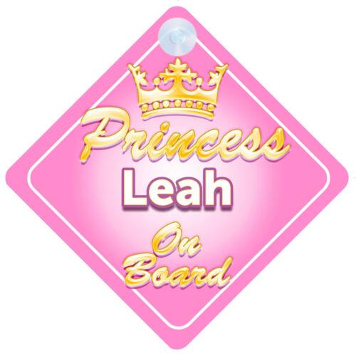 La princesse Leah à bord personnalisé bébé fille VOITURE SIGNE