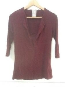 Dolan-Left-Coast-Collection-Womens-Top-Size-XXS-3-4-Sleeve-Soft-Maroon-Red