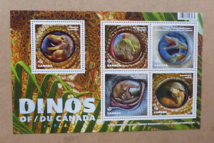 2016-CANADA-DINOSAURS-STAMP-SHEETLET-5-STAMPS