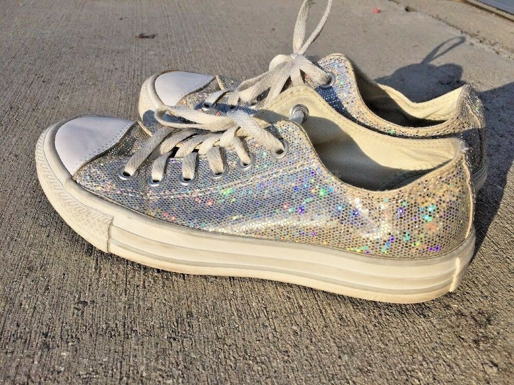 SALE @ CONVERSE ALL STAR Athletic Sneakers Walking SILVER SPARK Damens Schuhes Sz 7