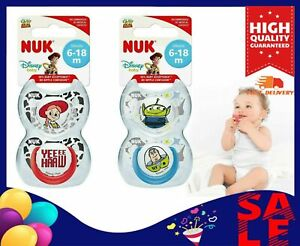Silicone NUK Toy Story Dummies BPA-Free Receive 0-6 Months