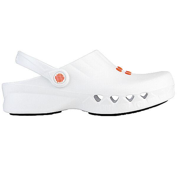 Wock nube hoof white shoes 4510020 sandal mule work esd